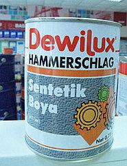 DEWILUX молотковая эмаль 3039, кирпично-красная, 0,75 л