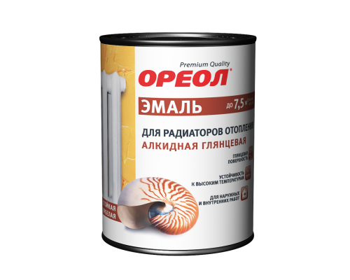 Ореол для радиаторов, акриловая глянцевая белая 2,9 кг