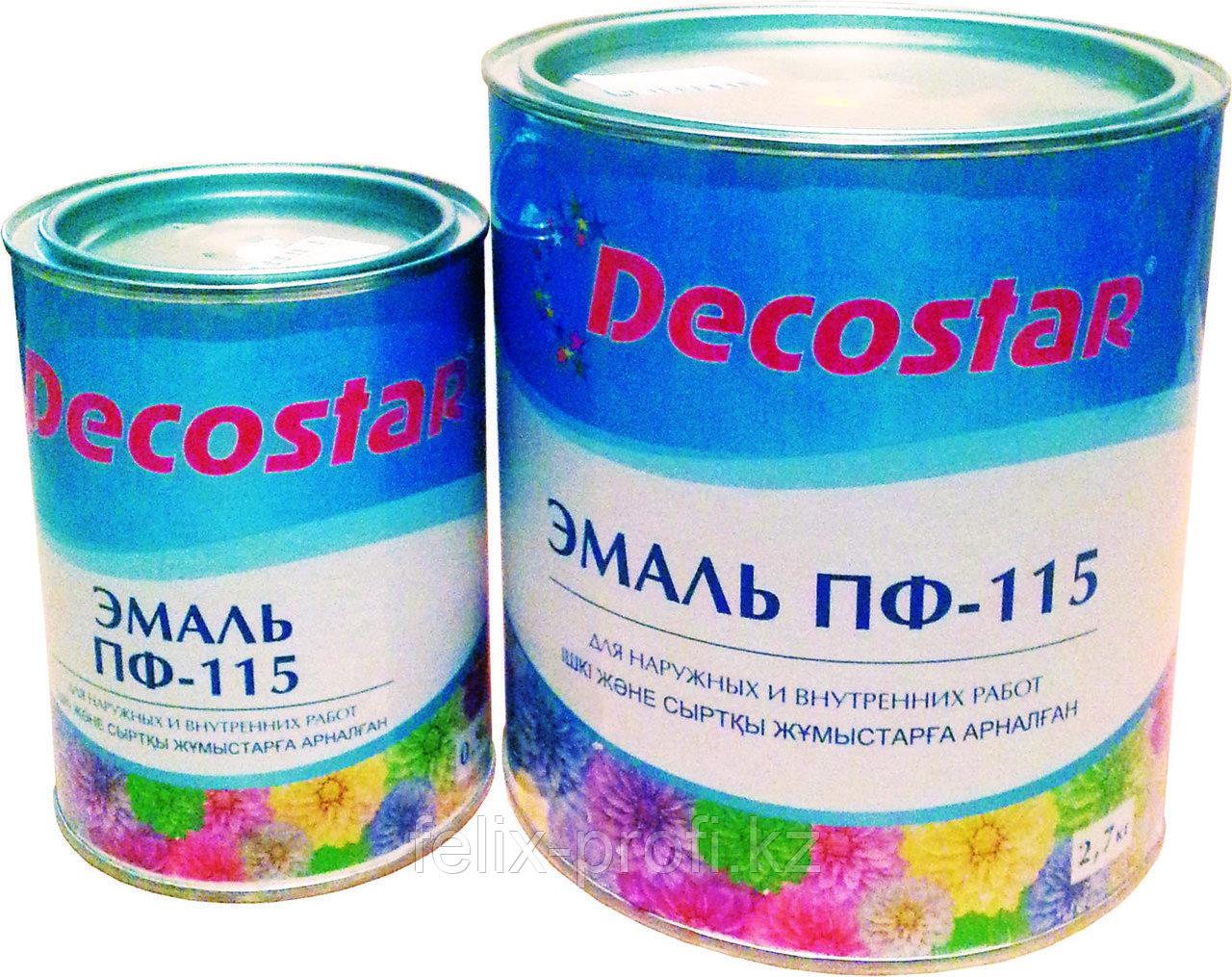 Decostar Эмаль ПФ-115 серая, 2.7 кг