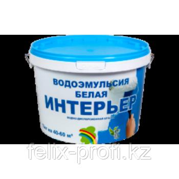 """""""ИНТЕРЬЕР"""" КРАСКА ВОДОЭМУЛЬСИОННАЯ БЕЛАЯ 2,5 кг"""