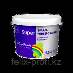 "ЭМАЛЬ ""SUPER"" ГЛЯНЦЕВАЯ ""РАДУГА-117"" АКРИЛОВАЯ 0,9 л  белый, база ""А"" белый"