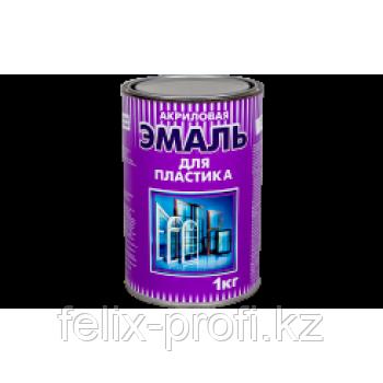 """ЭМАЛЬ ДЛЯ ПЛАСТИКА """"РАДУГА-180"""" АКРИЛОВАЯ 1 кг база """"А"""" белый"""
