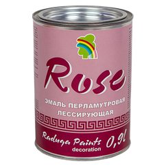 """ЭМАЛЬ """"РАДУГА-117"""" ДЕКОРАТИВНАЯ «ПЕРЛАМУТР» 0,9 л Розовый"""