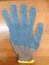 Перчатки вязаные х/б 7 кл, четырехнитка, напульсник 5 см с ПВХ нанесением