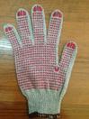 Перчатки вязаные х/б 10 кл. 56 гр. четырехнитка, напульсник 5 см с ПВХ нанесением