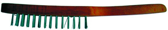 Щетка проволочная, стальная, деревянная рукоятка, 4 ряда (Hobbi) (шт.)