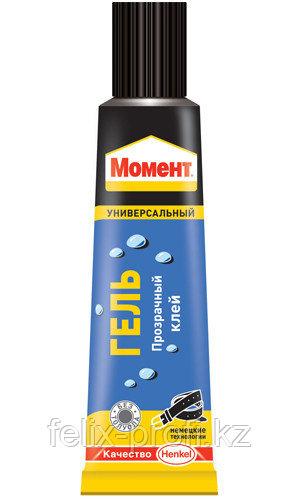 МОМЕНТ Гель Бесцветный контактный клей для пористых и прозрачный оснований, 125 мл, в шоу боксе