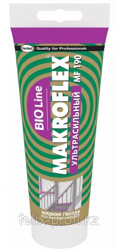 """MAKROFLEX Bio line MF190 """"Ультрасильный"""" Монтажный клей ,  картридж 280гр., прозрачный"""