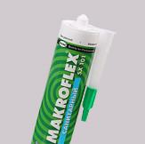MAKROFLEX SX 101 Санитарный Силиконовый герметик для помещ. с повыш. влажн. Прозрач, 290 мл, картридж