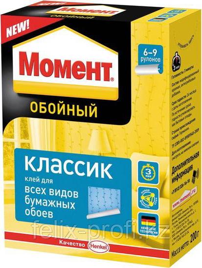 МОМЕНТ Классик Обойный клей для всех видов бумажных обоев, 200 г