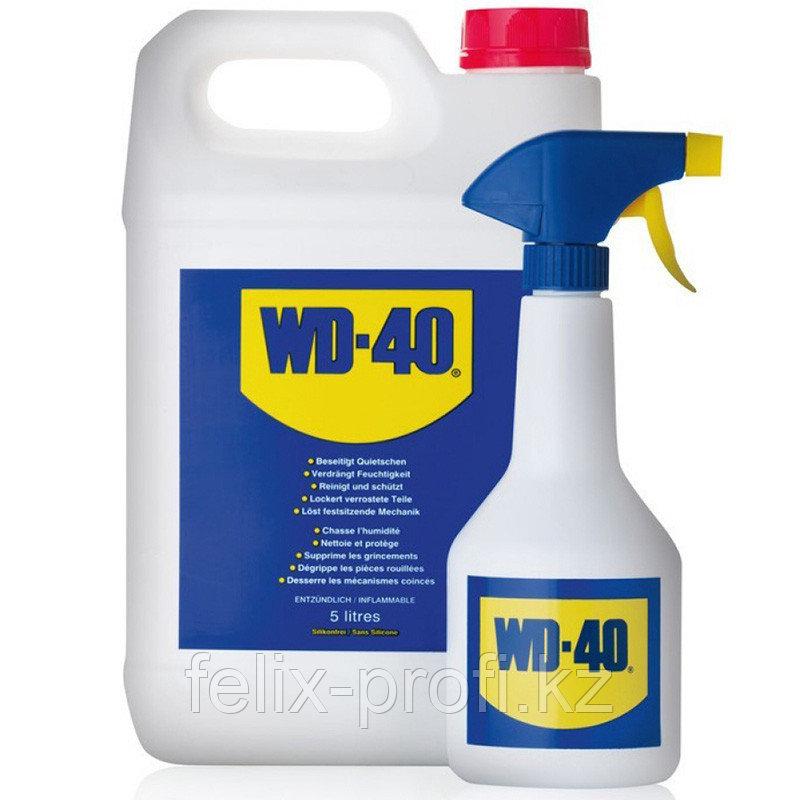 WD-40 Универсальный многоцелевой спрей для тысяч применений, 5 л, канистра