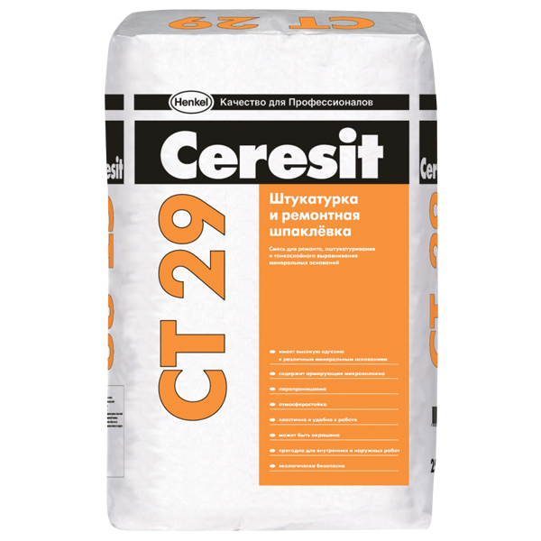 Ceresit СТ 29 Штукатурка и ремонтная шпаклёвка, 25 кг
