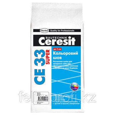 Ceresit  СЕ 33 SUPER затирка для узких швов до 6 мм, цвет: Серый (KZ), 5 кг
