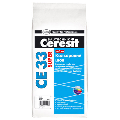 Ceresit  CE 33 SUPER затирка для узких швов до 6 мм, цвет: Серебристо-серый (KZ), 2 кг