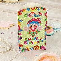 """Пакет подарочный 14*24 см """"Клоун"""" с сердцем (набор 6 шт)"""