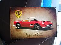 "Ретро табличка ""Ferrari 250 GT"""