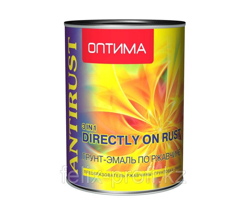 """Грунт-эмаль по ржавчине 3в1 """"ОПТИМА""""черная 0.9 кг"""