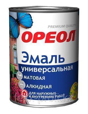 """Эмаль акриловая """"ОРЕОЛ"""" глянцевая жёлтая 0.9 кг"""
