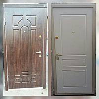 Дверь стальная МДФ с двух сторон, цвет коробки белый