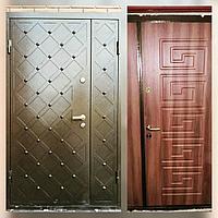 Дверь стальная двухстворчатая сундук снаружи внутри МДФ