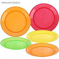 Набор детских тарелок, 5 шт., диаметр 19 см, от 6 мес.
