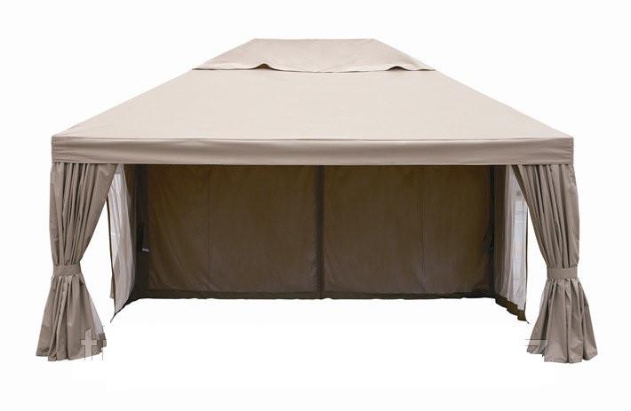 Беседка - шатер с боковыми стенками  (5х3,75м)