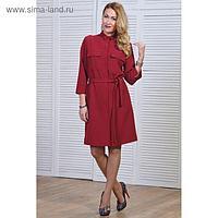 Платье-рубашка женское, размер 44, рост 164 см, цвет красный