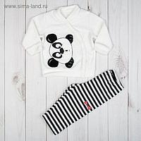 """Костюм для девочки (жакет и брюки) """"Я панда"""", рост 62 см (20), цвет чёрный/белый"""