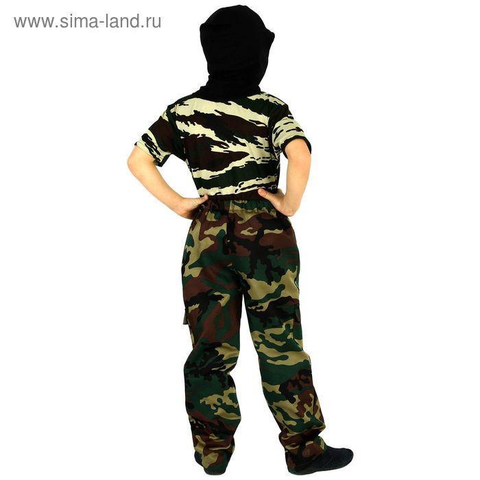 """Детский камуфляжный костюм """"Меткий снайпер"""", штаны, футболка, маска, рост 104 см - фото 3"""