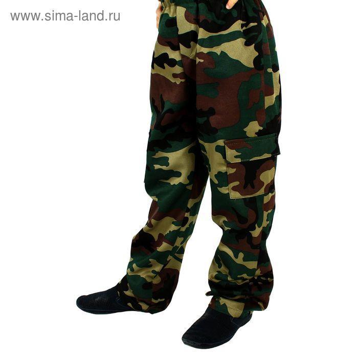 """Детский камуфляжный костюм """"Меткий снайпер"""", штаны, футболка, маска, рост 104 см - фото 5"""