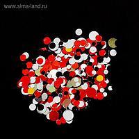 Камифубуки для декора ногтей , цвет красный/чёрный/белый