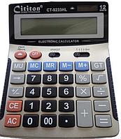 Калькулятор 9233HL 12р, Cititon с детектором валюты (размер 18,5*14,5см)