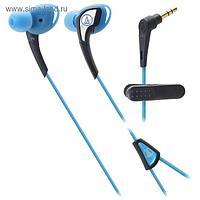 Наушники AUDIO-TECHNICA ATH-SPORT2 BL, спортивные, черно-синие