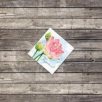Мини открытка «Поздравляю», георгины, 7 х 7 см