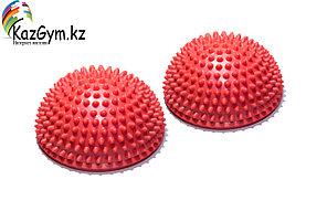Полусфера массажно-балансировочная (набор 2 шт) красный FT-MSD-2RD
