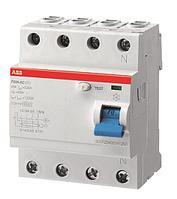 Автоматический выключатель ABB F204 AC-100/0,03