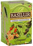 Чай зелёный пакетированный Букет Зеленая Свежесть Green Freshness, 20пак Basilur