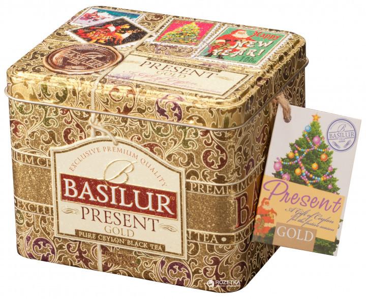 Чай чёрный рассыпной Caddy Подарок - Золотой Present - Gold, 100гр Basilur