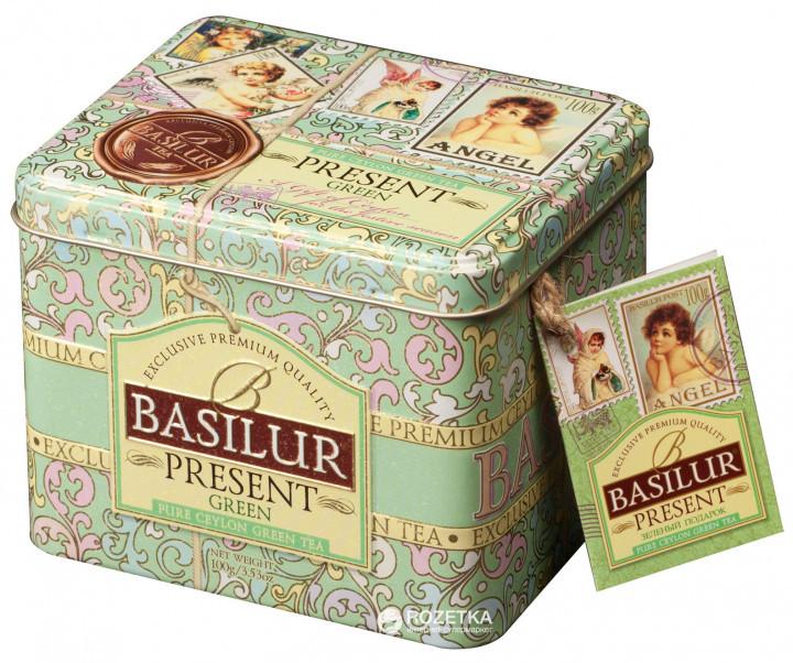 Чай зелёный рассыпной Caddy Подарок - Зелёный Present – Green, 100гр Basilur