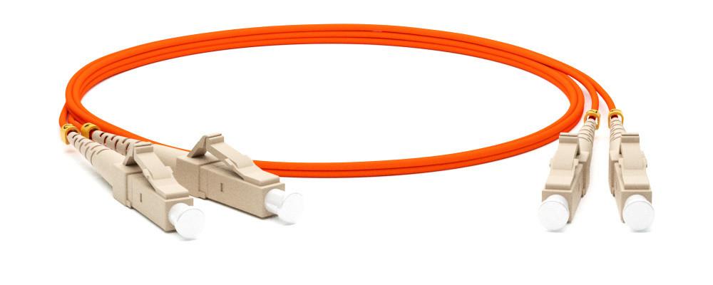 Патчкорд дуплексный, многомодовый, LANMASTER LC/PC-LC/PC 50/125 1м