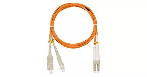 Патчкорд дуплексный, многомодовый, LANMASTER LC/PC-SC/PC 50/125 1м