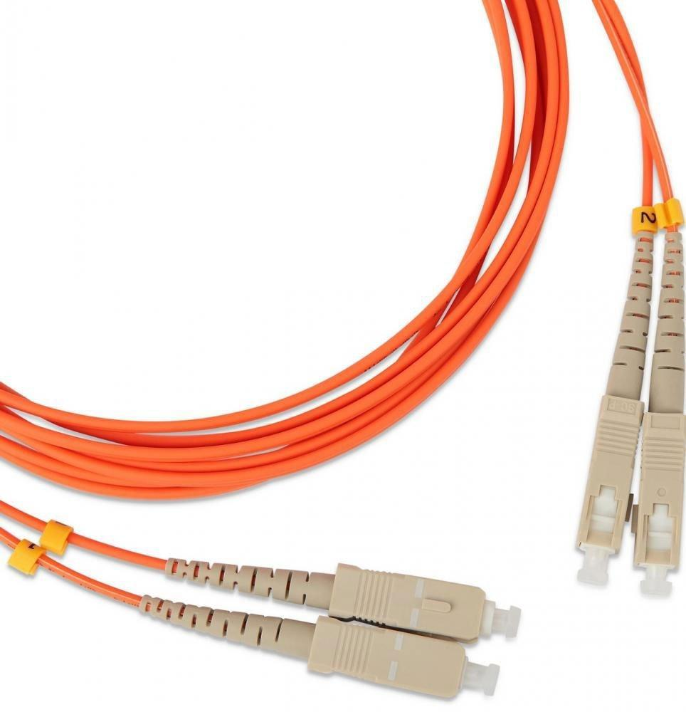 Патчкорд дуплексный, многомодовый, LANMASTER SC/PC-SC/PC 50/125 1м