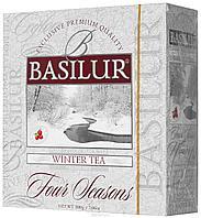 Чай чёрный пакетированный Четыре сезона Зимний чай Winter tea, 100пак Basilur