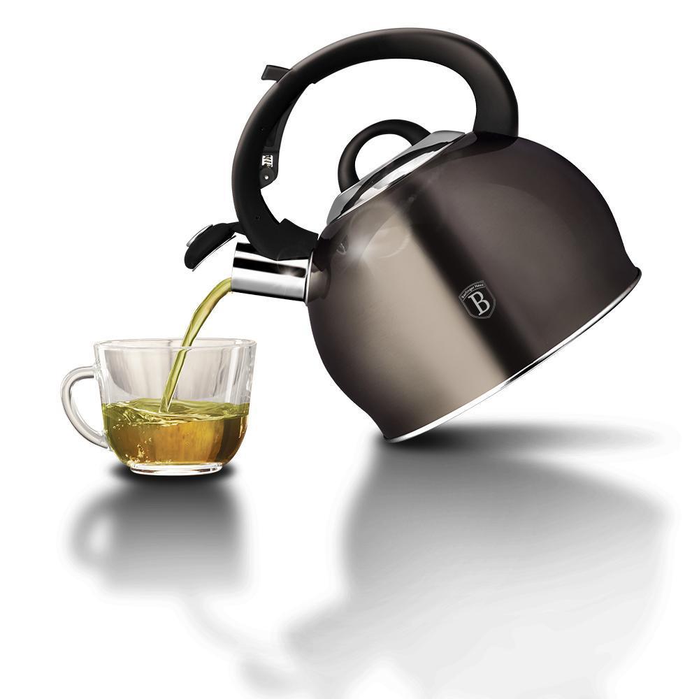 Чайник со свистком Berlinger Haus Metallic Line CARBON  3л