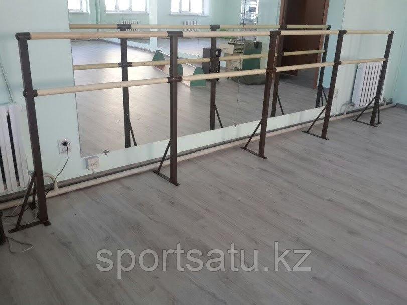 Хореографический (балетный) станок двухрядный - напольное крепление 4 метра