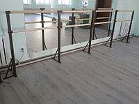 Хореографический (балетный) станок двухрядный - напольное крепление 5м