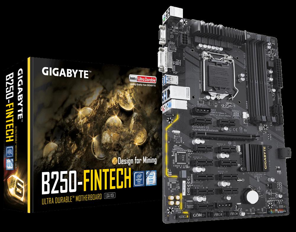 Материнская плата Gigabyte GA-B250 Fintech