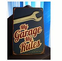 """Ретро табличка """"Мой гараж"""""""