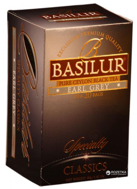 Чай чёрный пакетированный Избранная классика Эрл Грей Earl Grey, 20пак Basilur