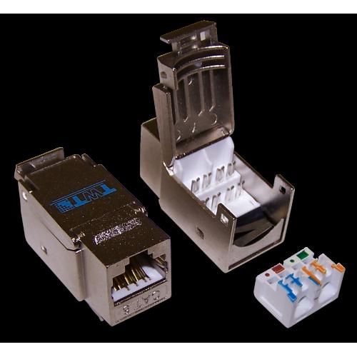 Модуль Keystone RJ45, Cat.6, STP, 90 градусов, белый